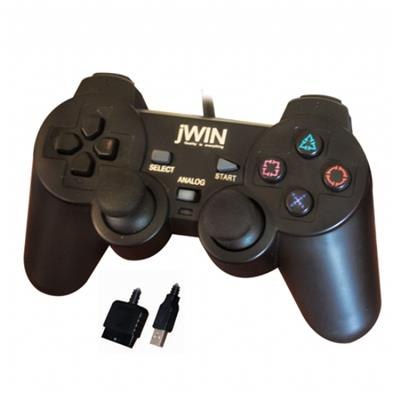 jwin-ps2-usb-1225-dual-shock-gamepad